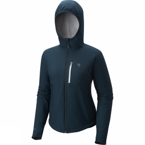 Mountain Hardwear Mountain Hardwear Womens Skypoint Hoodie Blue Spruce