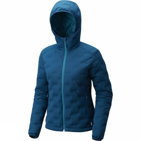Mountain Hardwear Mountain Hardwear Womens StretchDown DS Hooded Jacket Dark River