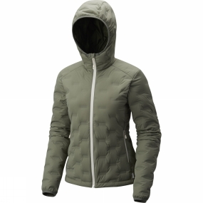 Mountain Hardwear Mountain Hardwear Womens StretchDown DS Hooded Jacket Green Fade