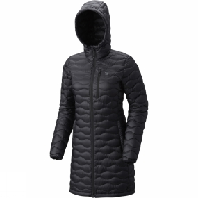 Mountain Hardwear Mountain Hardwear Womens Nitrous Hooded Down Parka Black