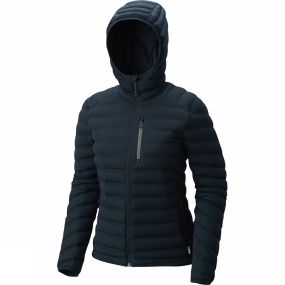 Mountain Hardwear Mountain Hardwear Womens StretchDown Hooded Jacket Blue Spruce