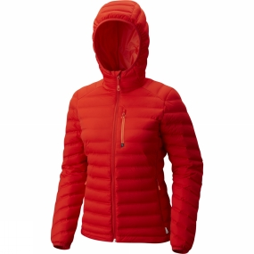 Mountain Hardwear Mountain Hardwear Womens StretchDown Hooded Jacket Fiery Red