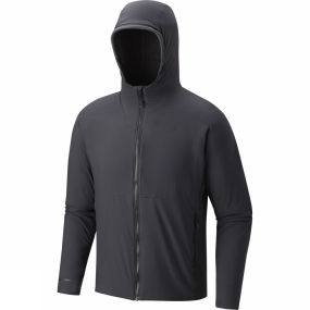 Mountain Hardwear Mountain Hardwear Mens ATherm Hooded Jacket Shark
