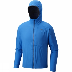 Mountain Hardwear Mountain Hardwear Mens ATherm Hooded Jacket Altitude Blue