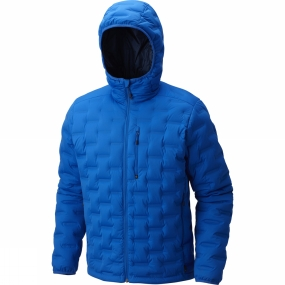 Mountain Hardwear Mountain Hardwear Mens StretchDown DS Hooded Jacket Altitude Blue