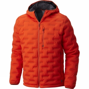 Mountain Hardwear Mountain Hardwear Mens StretchDown DS Hooded Jacket State Orange