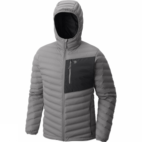 Mountain Hardwear Mountain Hardwear Mens StretchDown Hooded Jacket Manta Grey