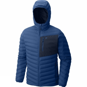 Mountain Hardwear Mountain Hardwear Mens StretchDown Hooded Jacket Nightfall Blue