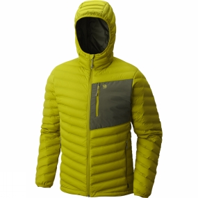 Mountain Hardwear Mountain Hardwear Mens StretchDown Hooded Jacket Python Green