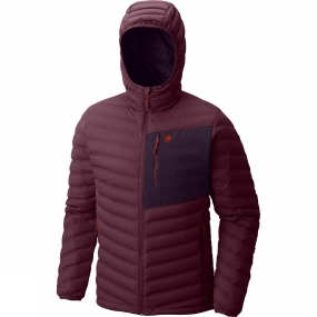 Mountain Hardwear Mountain Hardwear Mens StretchDown Hooded Jacket Cote Du Rhone