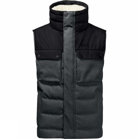 Jack Wolfskin Jack Wolfskin Mens Banff Springs Vest Dark Iron Checks