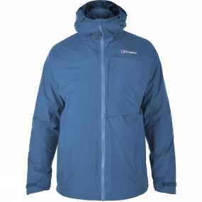 Berghaus Berghaus Mens Ben Alder 3-in-1 Jacket Snorkel Blue / Red Dahlia