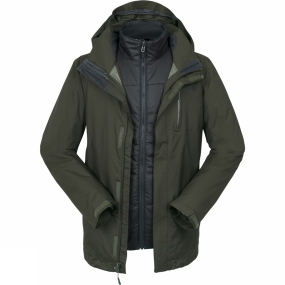 The North Face The North Face Mens Solaris Triclimate Jacket Rosin Green/Asphalt Grey