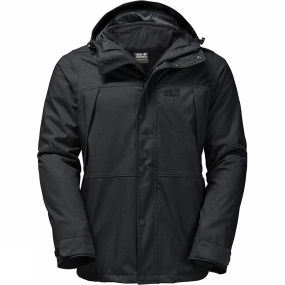 Jack Wolfskin Jack Wolfskin Mens Harbour Bay 3-in-1 Jacket Black