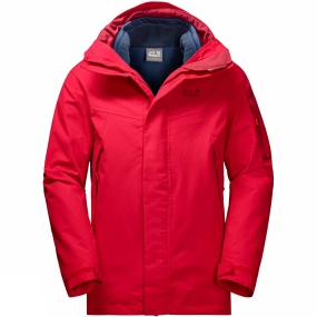 Jack Wolfskin Jack Wolfskin Mens Cascade Mountain 3-in-1 Jacket Ruby Red