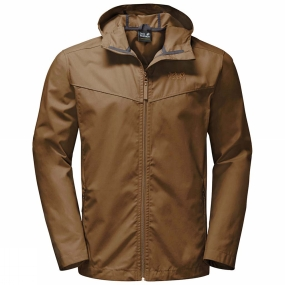 Jack Wolfskin Jack Wolfskin Mens Amber Road Jacket Deer Brown