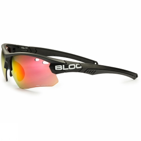Bloc Bloc Titan Single Lens Sunglasses Black/Red Mirror