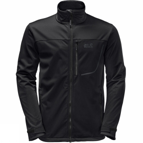 Jack Wolfskin Jack Wolfskin Mens The Emerald Softshell Jacket Black