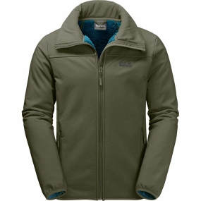 Jack Wolfskin Jack Wolfskin Mens Rockwall Jacket Woodland Green