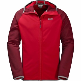 Jack Wolfskin Jack Wolfskin Mens Zenon Softshell Jacket Ruby Red