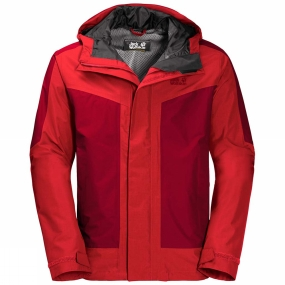 Jack Wolfskin Jack Wolfskin Mens Venture Tour Jacket Peak Red