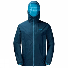 Jack Wolfskin Jack Wolfskin Mens Colourburst Jacket Poseidon Blue