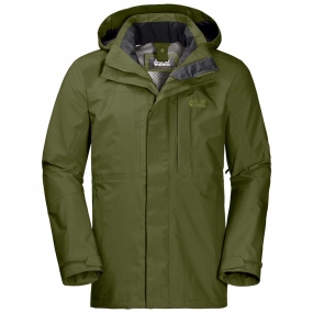 Jack Wolfskin Jack Wolfskin Mens Echo Peak Flex Jacket Cypress Green