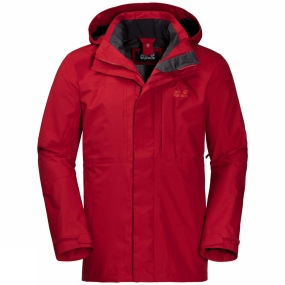 Jack Wolfskin Jack Wolfskin Mens Echo Peak Flex Jacket Indian Red Xt