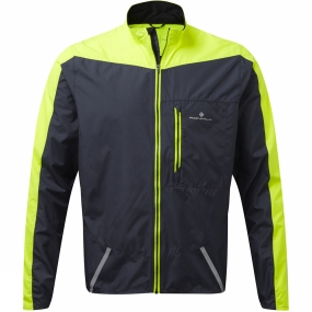 Ronhill Ronhill Mens Stride Windspeed Jacket Charcoal/Fluo Yellow