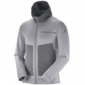 Salomon Salomon Mens Pulse Mid Hoodie Alloy/Forged Iron