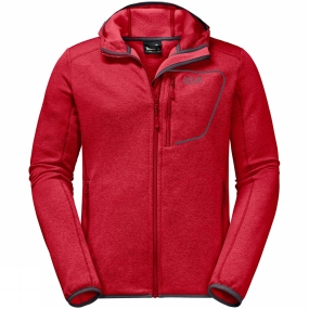 Jack Wolfskin Jack Wolfskin Mens Skyland Hooded Jacket Ruby Red