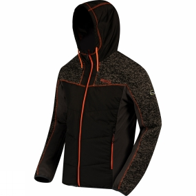 Regatta Mens Pendan Hybrid Hooded Fleece