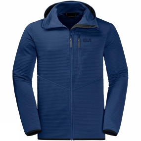 Jack Wolfskin Jack Wolfskin Mens Modesto Hooded Jacket Royal Blue