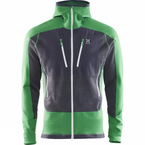 Haglofs Haglofs Mens Serac Jacket Amazon Green / Magnetite