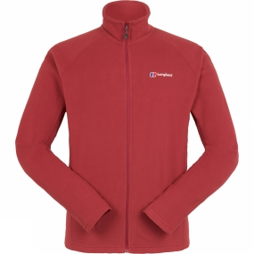 Berghaus Berghaus Mens Rossett Micro Full Zip Jacket Red Dahlia