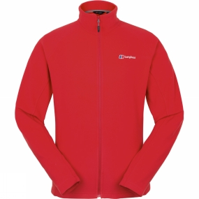 Berghaus Berghaus Mens Rossett Micro Full Zip Jacket Haute Red