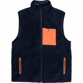 United By Blue United By Blue Mens Remus Fleece Vest Navy/Orange