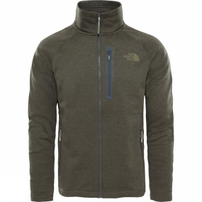 The North Face The North Face Mens Canyonlands Full Zip Fleece New Taupe Green Heather