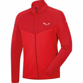 Salewa Salewa Mens Ortles Polartec Full Zip Fleece Bergrot