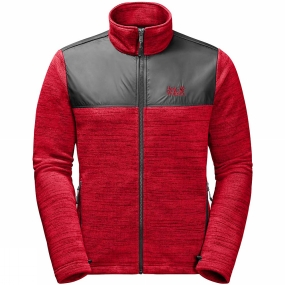 Jack Wolfskin Jack Wolfskin Mens Aquila Fleece Ruby Red