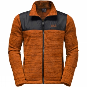 Jack Wolfskin Jack Wolfskin Mens Aquila Fleece Desert Orange