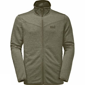 Jack Wolfskin Jack Wolfskin Mens Tongari Fleece Jacket Burnt Olive