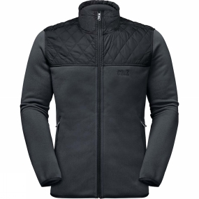 Jack Wolfskin Jack Wolfskin Mens Mackenzie River Fleece Jacket Phantom