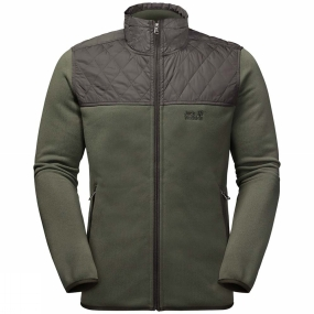 Jack Wolfskin Jack Wolfskin Mens Mackenzie River Fleece Jacket Woodland Green