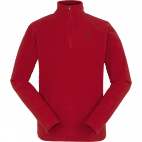 The North Face The North Face Mens Cornice 1/4 Zip Fleece Cardinal Red