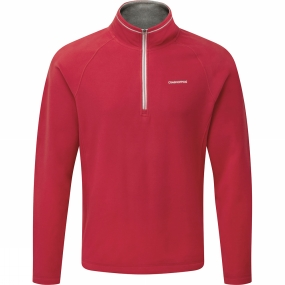 Craghoppers Craghoppers Mens Selby Half Zip Maple Red