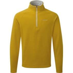 Craghoppers Mens Selby Half Zip English Mustard