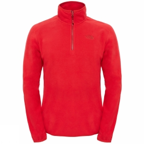 Image of The North Face Men's 100 Glacier 1/4 Zip TNF Red