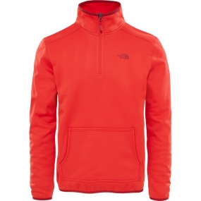 The North Face The North Face Mens Tanken 1/4 Zip Centennial Red