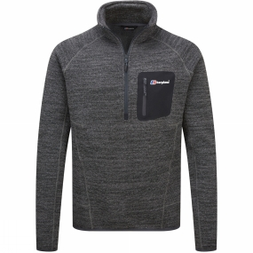 Berghaus Berghaus Mens Tulach 2.0 Half Zip Fleece Light Jet Black Marl